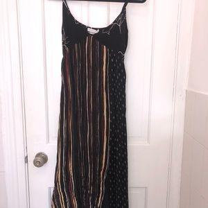 UO boho maxi dress with slit NWT